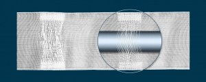 TZ17 ширина: 10 cм; лента с петлями на карниз; количество метров в рулоне: 50